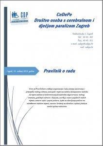Pravilnik o radu udruge CeDePe Zagreb