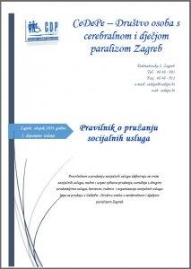 Pravilnik o pružanju socijalnih usluga