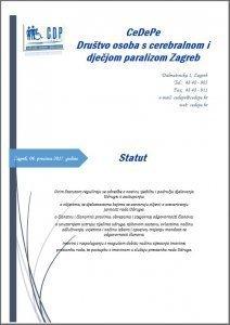 Statut udruge CeDePe Zagreb